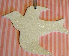 Glittered Doves made with cereal boxes and Mod Podge!