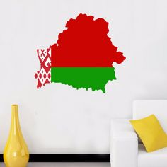 Belarus flag map sticker