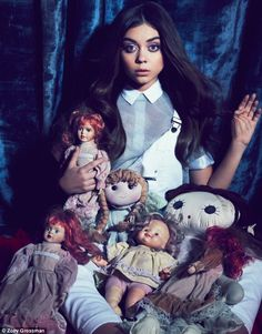 Babes In Toyland: Sarah Hyland has been turned into a doll for new magazine shoot