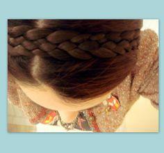 hair braided headband bridal wedding braid von Puppycatmeow auf Etsy