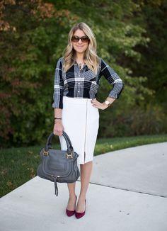 Shopbop Friends & Family Sale, Plaid and Zipper Pencil Skirt - Mix & Match Fashion
