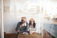 Engagement Photography Quirky Coffee Shop Engagement Shoot - A simply beautiful coffee shop engagement shoot by Limelife Photography.