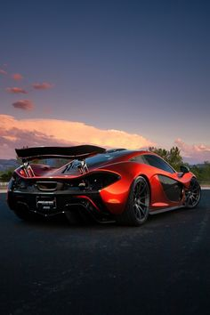 "motivationsforlife: "" McLaren P1 | Sunset by Gil Folk """