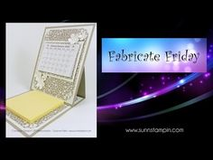 Fabricate Friday – Mini Easel Calendar | SuNN Stampin'