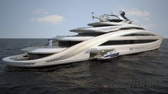 Odyssey Yachts unveil project Nautilus - The yacht has a sculptured exterior form, with modern flowing lines and purposeful stance. This yacht boasts five rear facing exterior decks, cascading in a waterfall style arrangement.