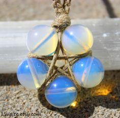 Opalite Hemp Wrapped Healing Crystal Star Necklace https://www.etsy.com/listing/105994455/