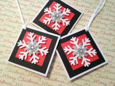 Christmas Gift Tags / Snowflakes / Mini Note Cards by HugsandHolidays for $4.50