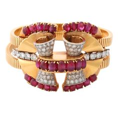 1stdibs - BOUCHERON Paris Ruby and Diamond Bracelet explore items from 1,700  global dealers at 1stdibs.com