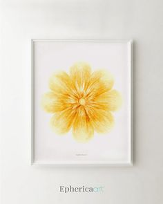 94 best delicate pastels epherica art collection images on pinterest yellow flower art print yellow wall art baby nursery print yellow nursery decor wall mightylinksfo