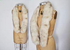 SilverFOX Fur Scarf Wrap Collar / bridal wedding