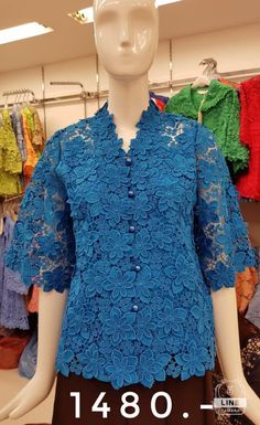 Kebaya Lace, Kebaya Dress, Batik Kebaya, Batik Fashion, Fashion Sewing, Hijab Fashion, Blouse Batik, Batik Dress, Dress Brokat