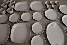 Gray tableware