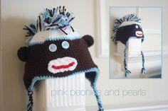 Crochet: Sock Monkey Mohawk Madness!