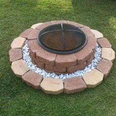 our backyard fire pit #landscaping #firepit #backyard