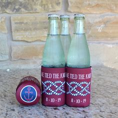 Full Color Customized Can & Bottle Party Coozies by GraciousBridal. Set of 25- $97.95. This wonderful functional party favor is perfect for wedding celebrations such as receptions, rehearsal dinners, engagement parties and more!