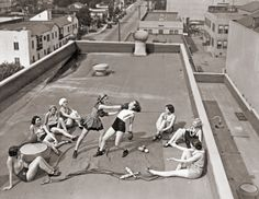 c-ornsilk:  Women boxing on a roof, circa 1930s  THIS IS LITERALLY THE RADDEST PHOTO I'VE EVER SEEN LIKE SHIT ARE YOU KIDDING