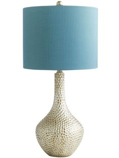 A teal shade with a honeycomb-textured base, makes this lamp a sophisticated choice #hgtvmagazine http://www.hgtv.com/decorating-basics/learn-from-vern-all-about-table-lamps/pictures/page-9.html?soc=pinterest