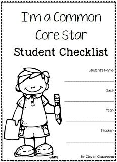 Common Core Star Rubircs and Checklists for grade one by Clever Classroom