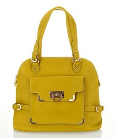 Take a look at this Yellow Envelope Pocket Tote by Segolene Paris on #zulily today!