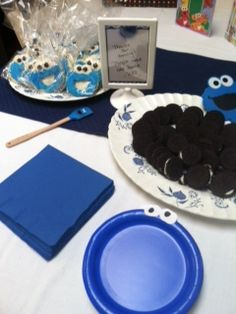 Cookie Monster First Birthday Party