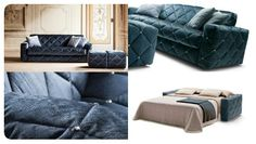 Divani letto Made in italy Art Deco Fashion, Sofa Bed, Storage Solutions, Space Saving, Mattress, Ottoman, Armchair, Bedding, Cover