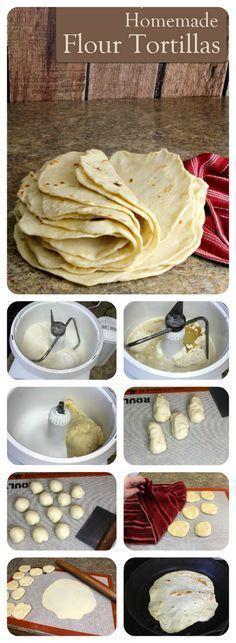 Easy Homemade Flour Tortillas.