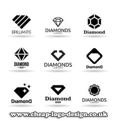 diamond logo design ideas for jewellery business www.cheap-logo-design.co.uk…