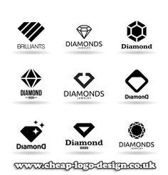 diamond logo design ideas for jewellery business www.cheap-logo-design.co.uk…
