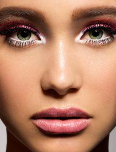 white/pink makeup