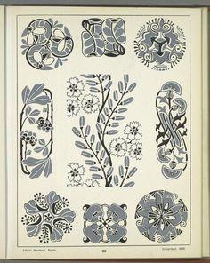 Анри Жилле/Henri Gillet: ornament_ru — LiveJournal - Page 2 Art Nouveau Pattern, Art Nouveau Design, Art Nouveau Illustration, Botanical Illustration, Vintage Drawing, Vintage Art, Nouveau Tattoo, Textile Pattern Design, William Morris