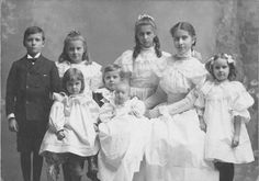 1893 photos of children | Frank amongst his siblings