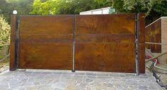 Image result for corten steel gate designs
