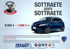 Operazione MENO MILLE - 9.950 € - 1.000 SOTTRAETE GENTE SOTTRAETE!  http://www.nuovaauto3-fcagroup.it/lancia