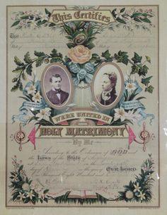 Te imaginas tu certificado de matrimonio así? Hermosa inspiración para una invitación vintage con algunos toques en color :)  #invitaciondebodavintage #bodavintage #savethedate
