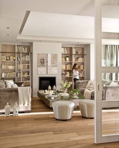 Gorgeous light, bright living room #style #decor