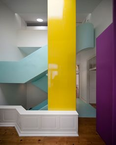 Colourful Torres Vedras House by Pedro Gadanho
