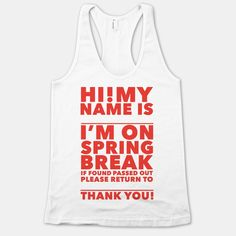 Lost On Spring Break Tank | HUMAN | T-Shirts, Tanks, Sweatshirts and Hoodies