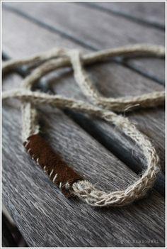 RUSTIC Natural Handmade LINEN NECKLACE