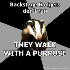 and when this badger runs she always slips on a pencil or over her on 2 feet by the water fountains(its happened 3 times)
