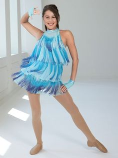 Ruby Blue - Style 0196 | Revolution Dancewear Jazz/Tap Dance Recital Costume