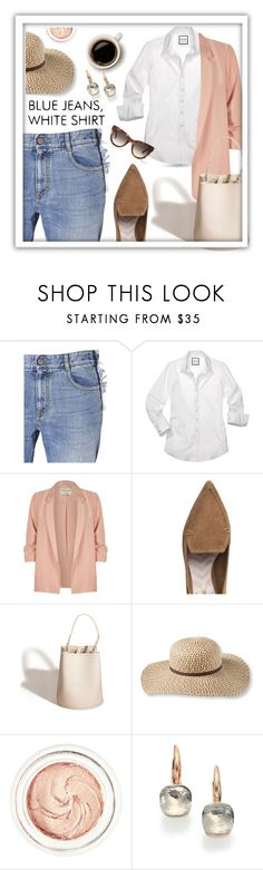"""Good morning!"" by queenofsienna ❤ liked on Polyvore featuring STELLA McCARTNEY, River Island, Nicholas Kirkwood, Creatures of Comfort, L.L.Bean, rms beauty, Pomellato and Spektre"