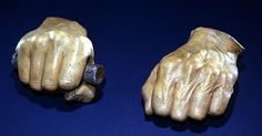 Sculptor, Leonard Volk's, casting of Lincoln's hands shortly after Lincoln won the nomination as the Republican Presidential Candidate. Volk asked Lincoln to hold something to simulate grasping a document in his right hand. Lincoln came back from his tool shed with a whittled piece of a broom handle. The casting for the right hand was made as he held the whittled handle. His left hand was cast slightly closed.