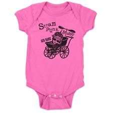 Steampunk Baby - Personalize Baby Bodysuit.  Add a name or text to this Steampunk design for a unique gift.  Also offered on maternity t-shirts and more infant clothing. #steampunk #baby #maternity #tshirts #clothing