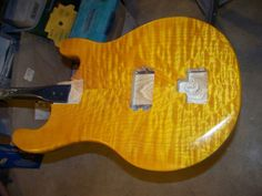 Amber stain with water based clear coat