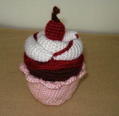 Crochet Cupcake by fuzfrenzy on Etsy www.etsy.com