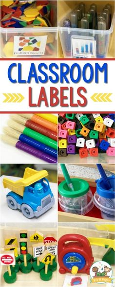 Printable Classroom Labels for Preschool Printable and Editable Classroom Labels for Preschool. Quickly and easily add labels to your classroom center tubs! The post Printable Classroom Labels for Preschool appeared first on Toddlers Ideas. Preschool Classroom Labels, Preschool Center Labels, Classroom Organization Labels, Classroom Helpers, Preschool Centers, Toddler Classroom, Free Preschool, Preschool Printables, Kindergarten Classroom