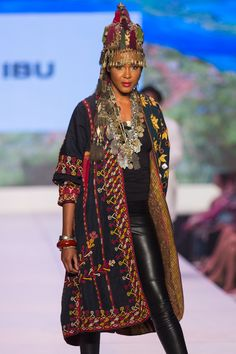 ibu Movement Runway Collection Vintage Central Asian Jacket and Headdress