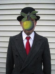 HILARIOUS! You, too, can be one of Magritte's works of art this Halloween.