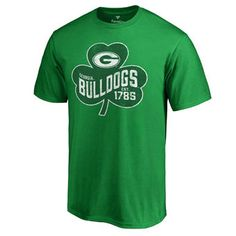 Men's Fanatics Branded Green Georgia Bulldogs Big & Tall St. Patrick's Day Paddy's Pride T-Shirt