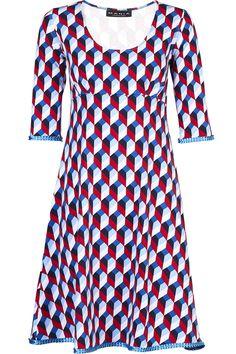 Yvette Dress Mosaik blue – MANIA Copenhagen
